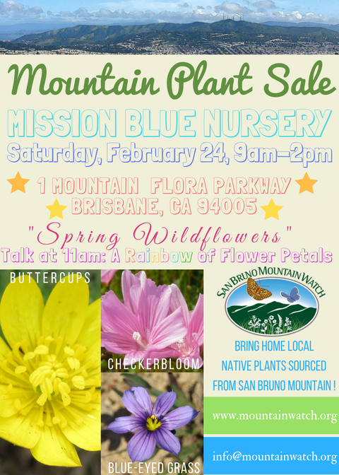 "Mission Blue Nursery Plant Sale this Saturday! ""Spring Wildflowers"""