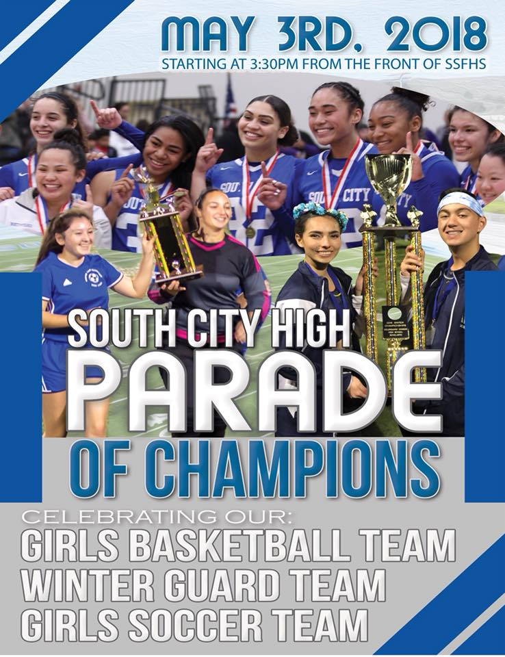 South City High Parade of Champions Set for May 3rd at 3:30PM from SSFHS to Orange Memorial Park