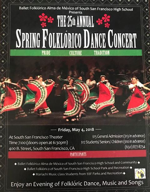 The 25th Annual Spring Forklorico Dance Concert Slated for Friday May 4th at SSFHS