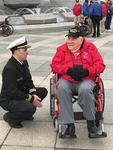 South San Francisco's Decorated WWII Veteran Roy Bava Participated in Honor Flight to Washington DC