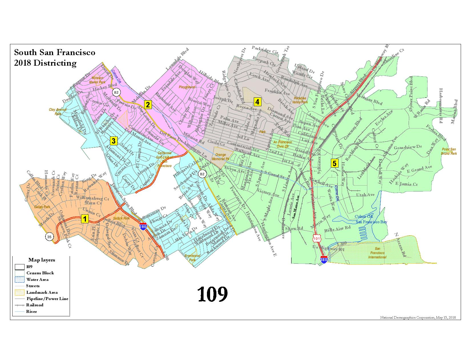South San Francisco Election District Map Approved By City Council