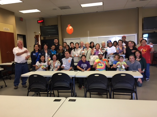 South San Francisco Cookie Volunteers for Senior Smile Program 4th of July Treats