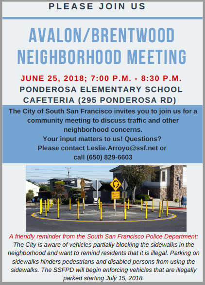 Avalon Brentwood Homeowners Announce Neighborhood Meeting June 25th 7pm at Ponderosa Elementary School