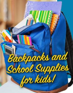 Pre-Register NOW for Backpack Giveaway Event on August 9th