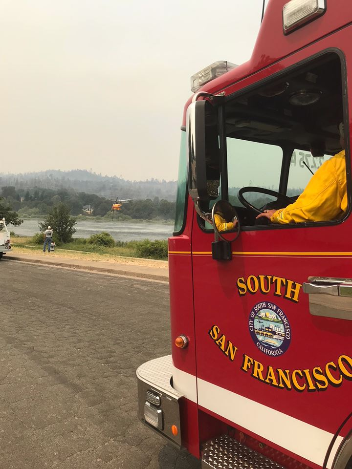 South San Francisco Firefighters Battle Carr Fire (Shasta) and Cranston Fire (Riverside)
