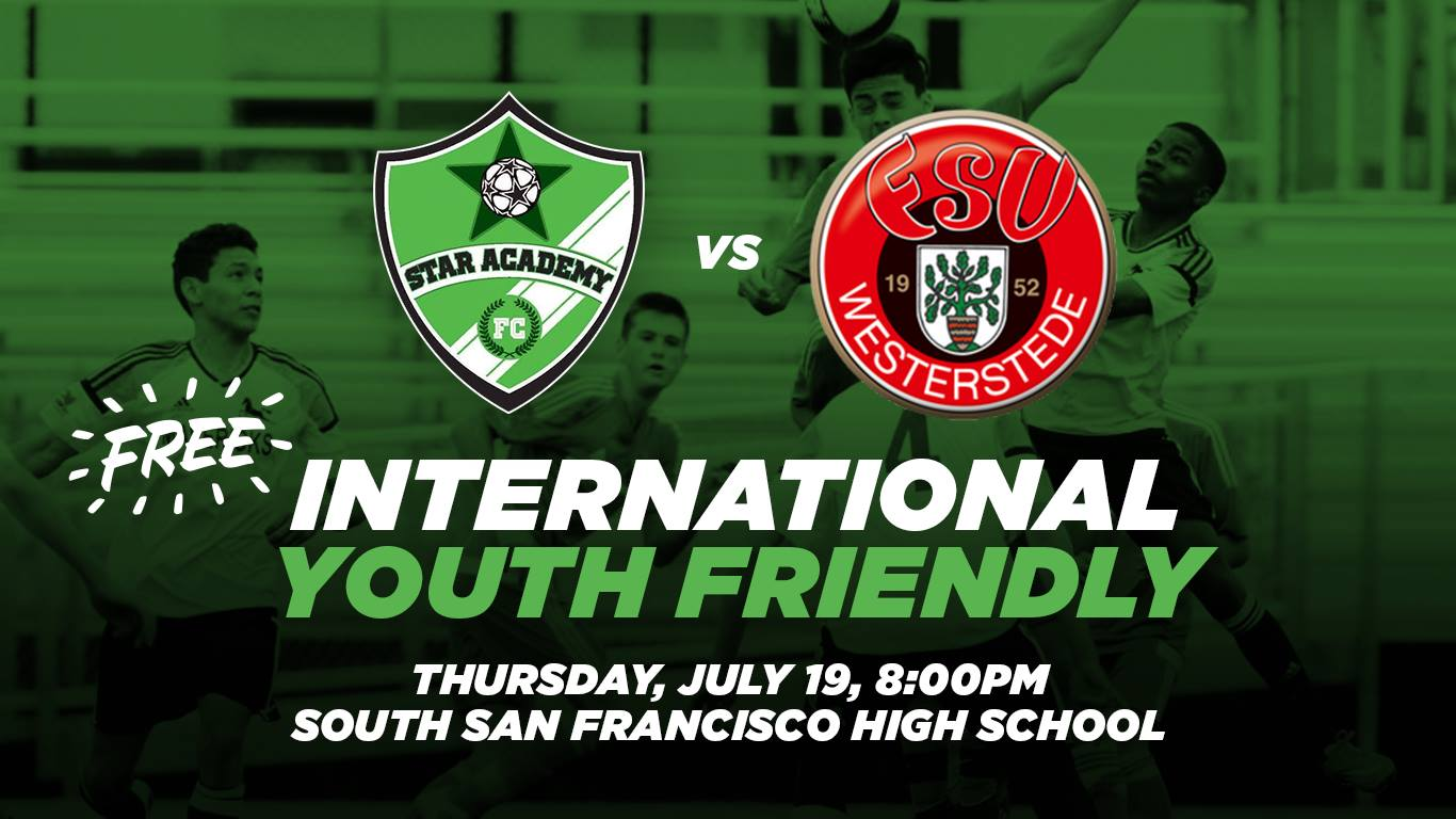 Star Academy FC vs FSV Westerstede at South City High Thursday July 19th – FREE Admission