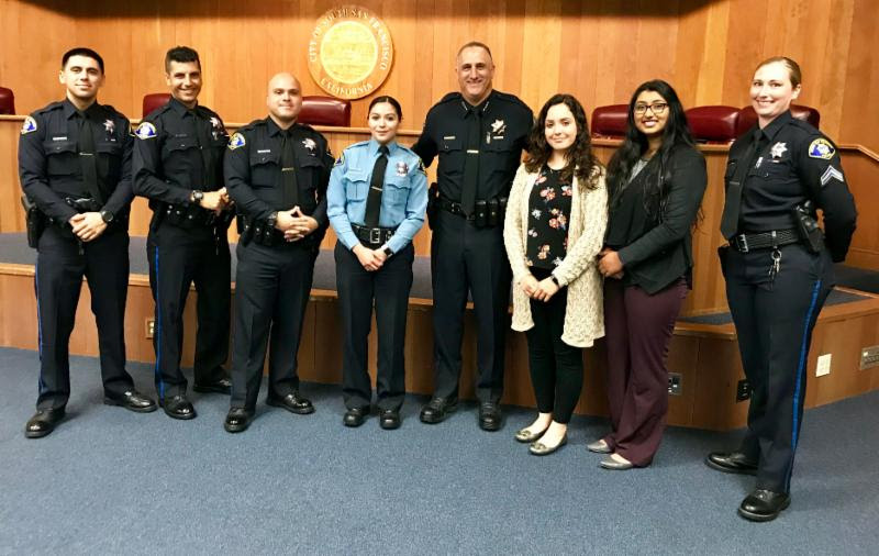 South San Francisco Police Department Swears in New Officers, Dispatchers, and Parking Enforcement Officers