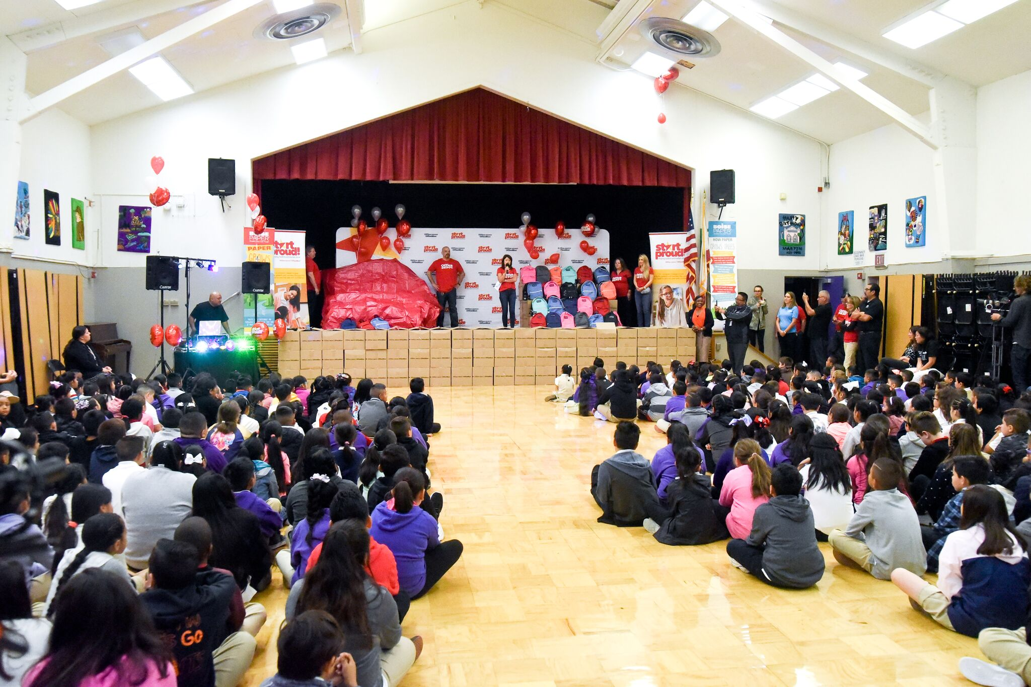 Office Depot's START PROUD Campaign Benefiting Martin Elementary School, Mrs. Carlino's Class and SSFUSD