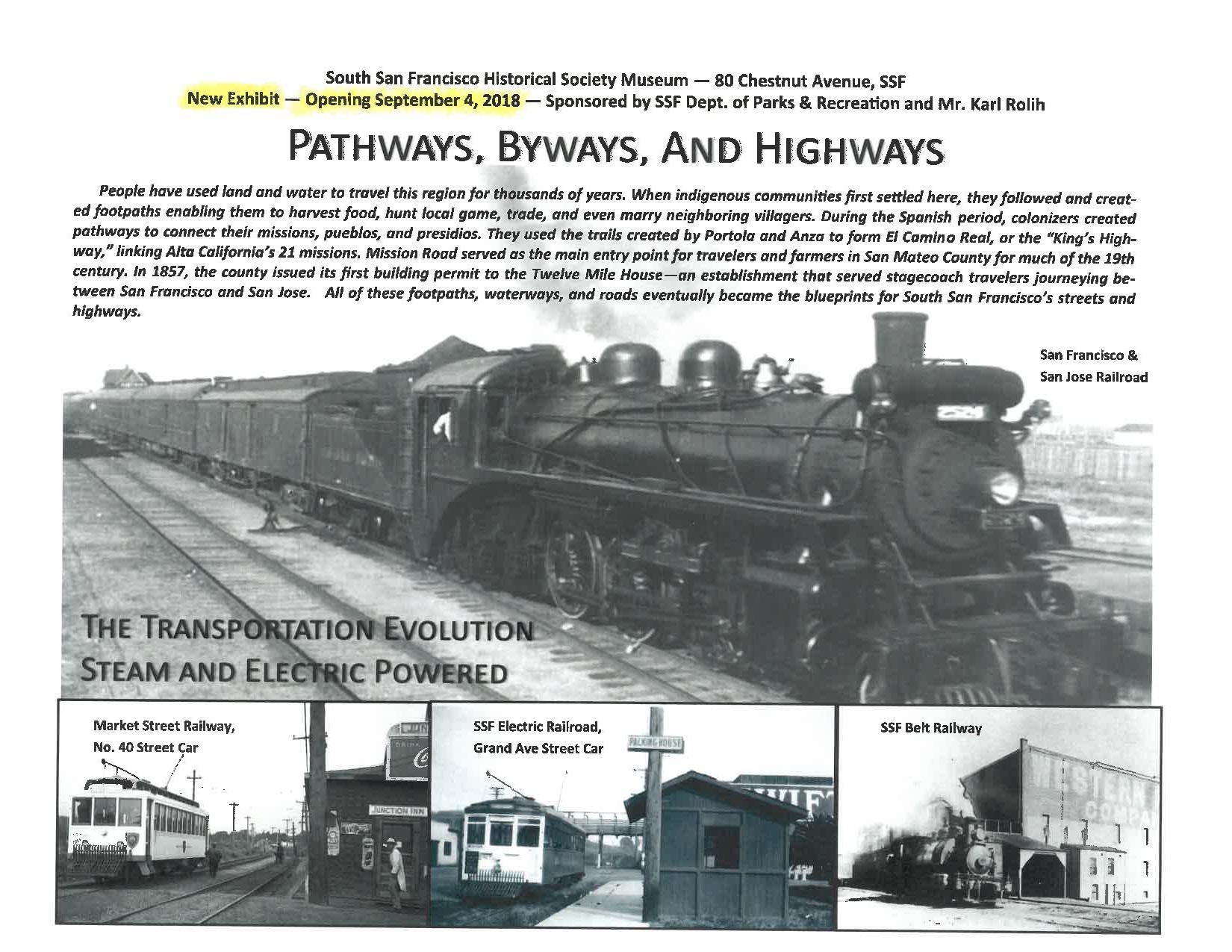 Pathways, Byways, and Highways; A New Historical Society Museum Exhibit