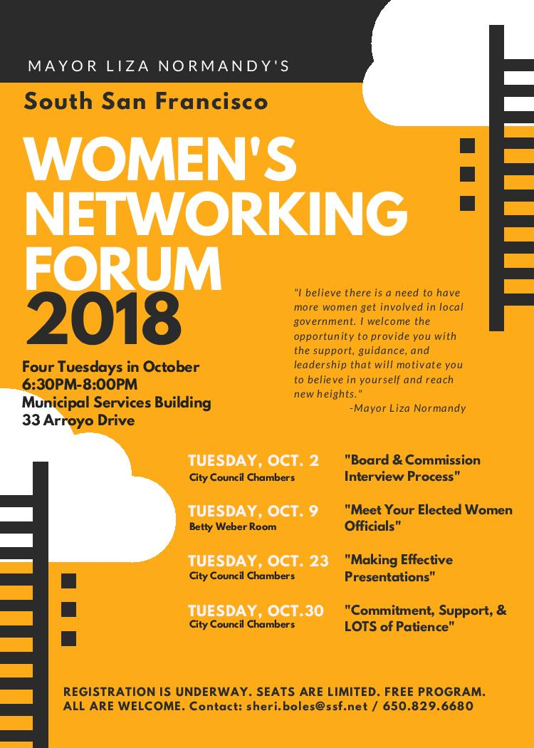 Mayor Normandy Invites YOU –  2nd Annual Women's Networking Forum, Registration is Underway
