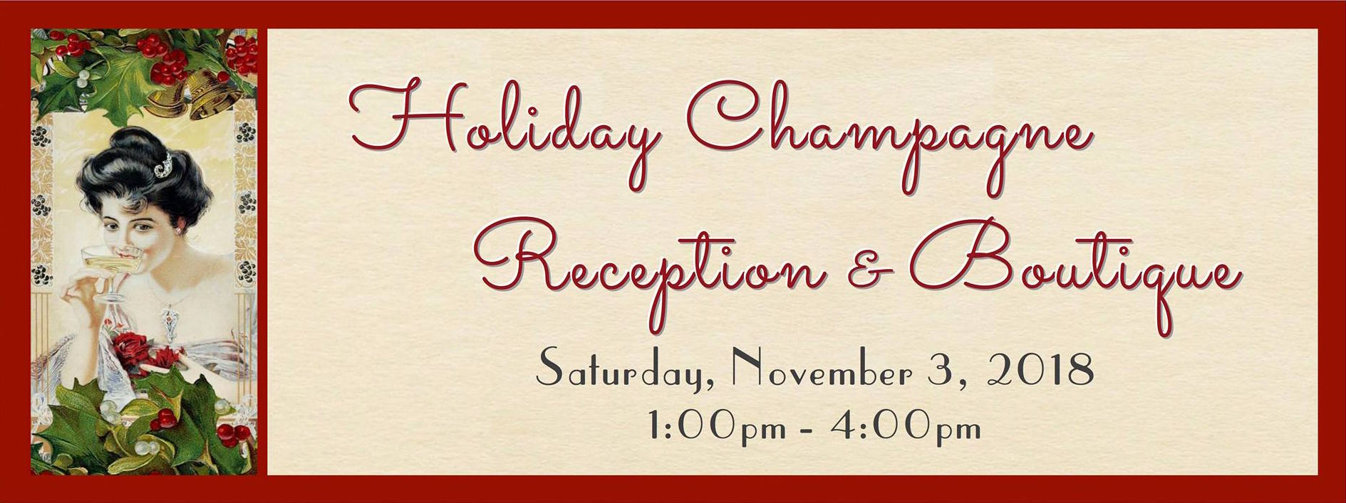 SSF Historical Society Announces 2018 Holiday Champagne Reception and Boutique Set for November 3rd