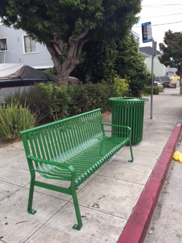 Bus Stops Looking Good as SamTrans Rolls Out New Benches and Trash Cans in San Mateo County